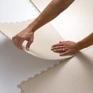 Commercial Quality TuffSeal Hidden Interlock Vinyl Floor Tile - Interlocking vinyl flooring tiles
