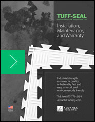 Installation, Maintenance, and Warranty for TUFF-SEAL loose lay vinyl flooring