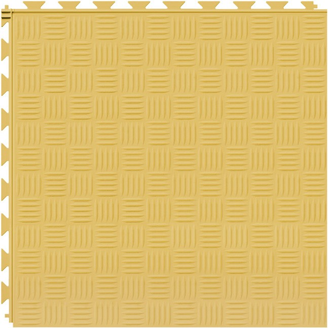 Tuff Seal Hidden Interlock Vinyl Floor Tile, Color: Butternut, Pattern: Marquis