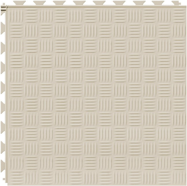 Tuff Seal Hidden Interlock Vinyl Floor Tile, Color: Canvas, Pattern: Marquis