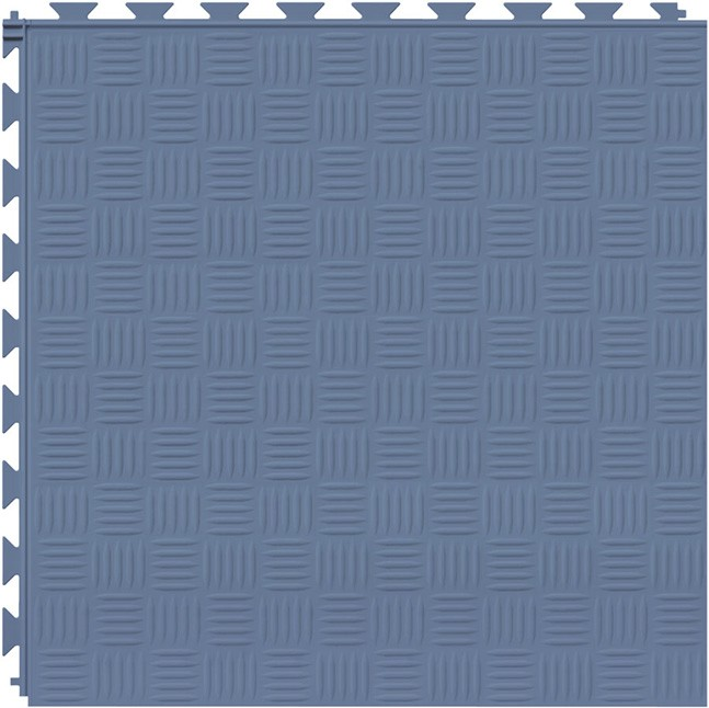 Tuff Seal Hidden Interlock Vinyl Floor Tile, Color: Cerulean Blue, Pattern: Marquis