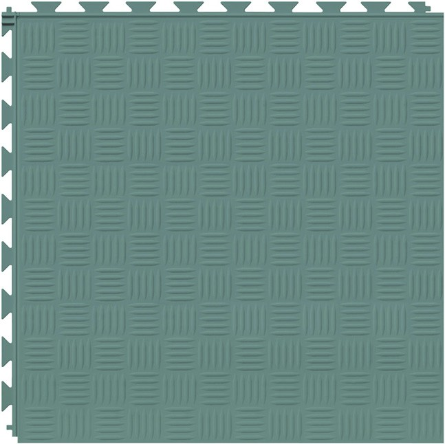 Tuff Seal Hidden Interlock Vinyl Floor Tile, Color: Meadow, Pattern: Marquis