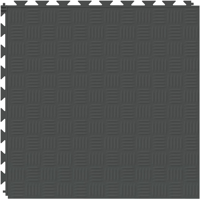 Tuff Seal Hidden Interlock Vinyl Floor Tile, Color: Slate, Pattern: Marquis