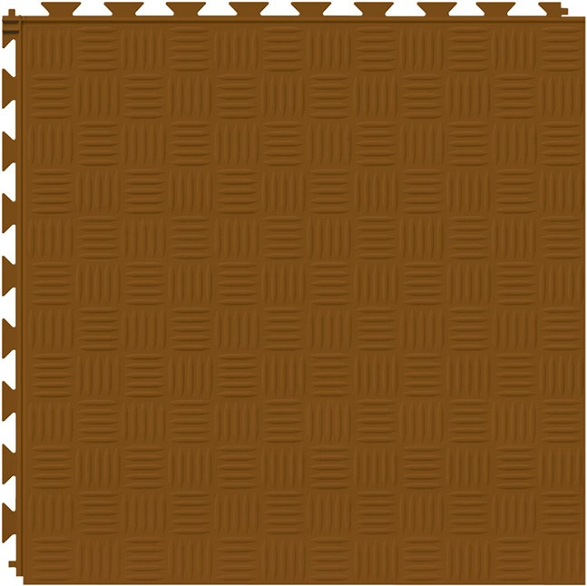 Tuff Seal Hidden Interlock Vinyl Floor Tile, Color: Terracotta, Pattern: Marquis