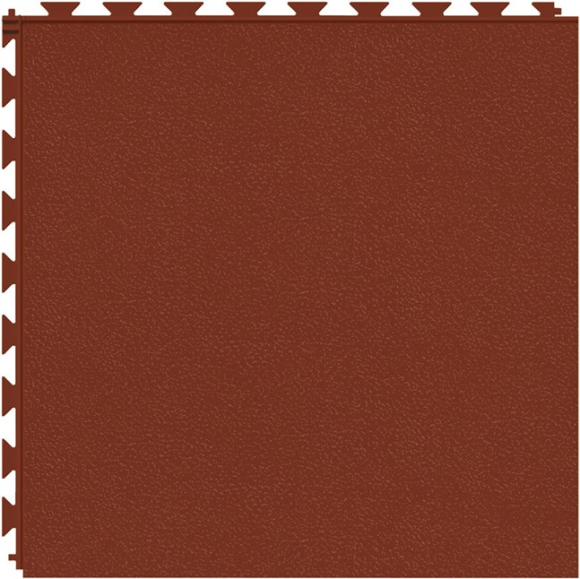 Tuff Seal Hidden Interlock Vinyl Floor Tile, Color: Red Brick, Pattern: Smooth