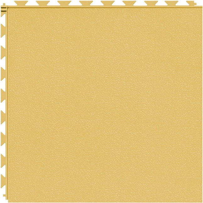 Tuff Seal Hidden Interlock Vinyl Floor Tile, Color: Butternut, Pattern: Smooth