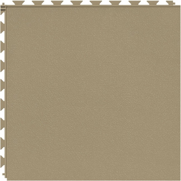 Tuff Seal Hidden Interlock Vinyl Floor Tile, Color: Caramel, Pattern: Smooth