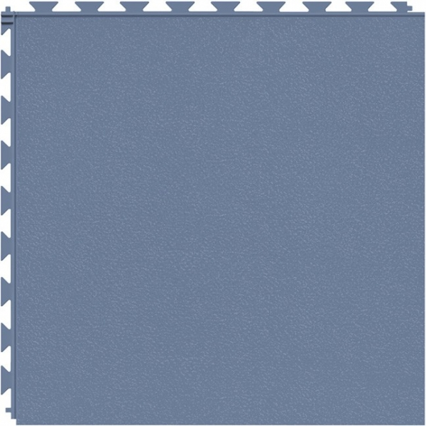 Tuff Seal Hidden Interlock Vinyl Floor Tile, Color: Cerulean Blue, Pattern: Smooth