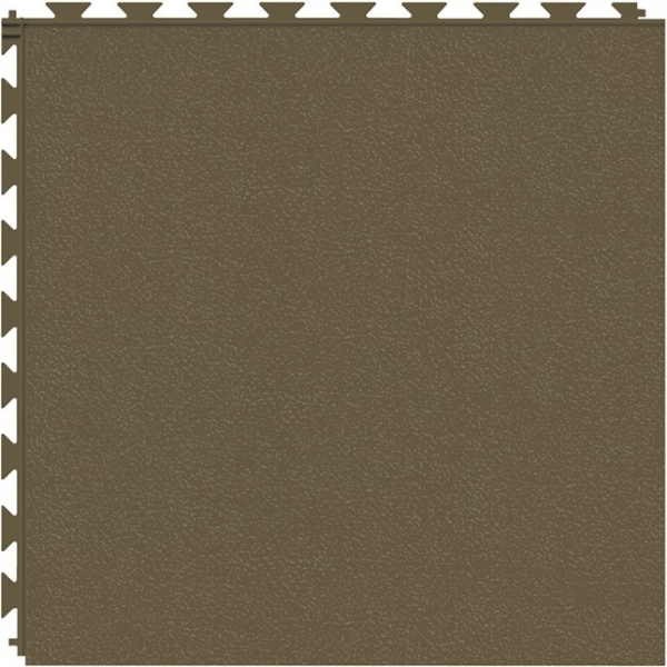 Tuff Seal Hidden Interlock Vinyl Floor Tile, Color: Chocolate, Pattern: Smooth
