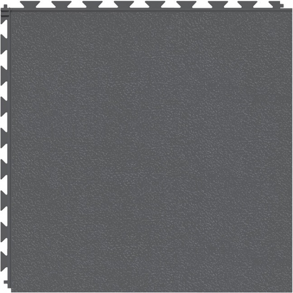Tuff Seal Hidden Interlock Vinyl Floor Tile, Color: Dark Gray, Pattern: Smooth