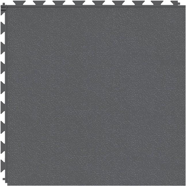 Tuff Seal Hidden Interlock Vinyl Floor Tile, Color: Dark Gray, Pattern: Smooth