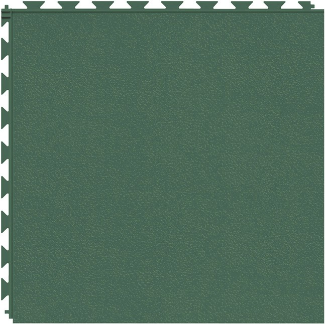Tuff Seal Hidden Interlock Vinyl Floor Tile, Color: Evergreen, Pattern: Smooth