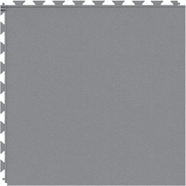 Tuff Seal Hidden Interlock Vinyl Floor Tile, Color: Light Gray, Pattern: Smooth