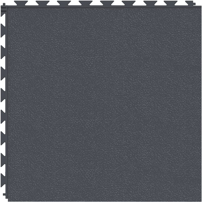 Tuff Seal Hidden Interlock Vinyl Floor Tile, Color: Slate, Pattern: Smooth