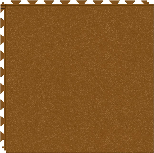 Tuff Seal Hidden Interlock Vinyl Floor Tile, Color: Terracotta, Pattern: Smooth