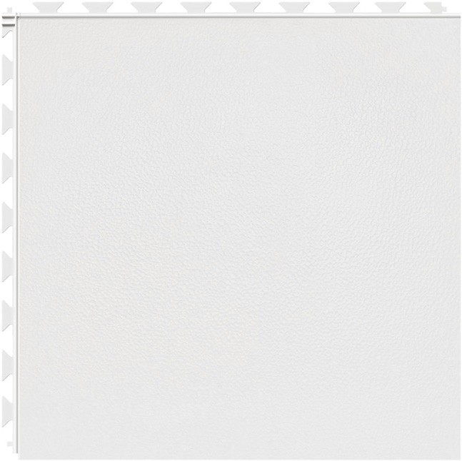 Tuff Seal Hidden Interlock Vinyl Floor Tile, Color: White, Pattern: Smooth