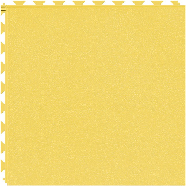 Tuff Seal Hidden Interlock Vinyl Floor Tile, Color: Yellow, Pattern: Smooth