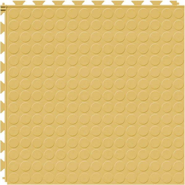 Tuff Seal Hidden Interlock Vinyl Floor Tile, Color: Butternut, Pattern: Stud