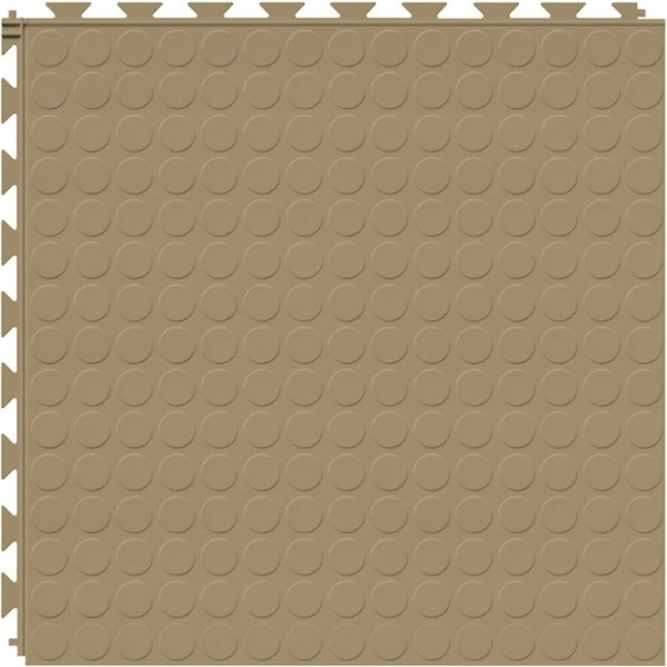 Tuff Seal Hidden Interlock Vinyl Floor Tile, Color: Caramel, Pattern: Stud