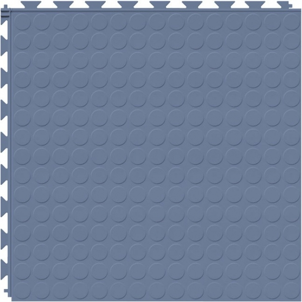 Tuff Seal Hidden Interlock Vinyl Floor Tile, Color: Cerulean Blue, Pattern: Stud