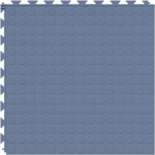 Tuff Seal Hidden Interlock Vinyl Floor Tile, Color: Cerulean Blue, Pattern: Stud