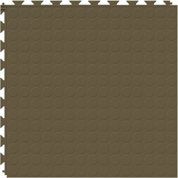 Tuff Seal Hidden Interlock Vinyl Floor Tile, Color: Chocolate, Pattern: Stud