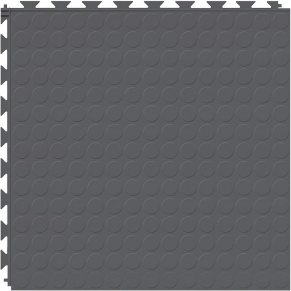 Tuff Seal Hidden Interlock Vinyl Floor Tile, Color: Dark Gray, Pattern: Stud