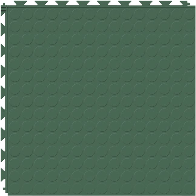 Tuff Seal Hidden Interlock Vinyl Floor Tile, Color: Evergreen, Pattern: Stud