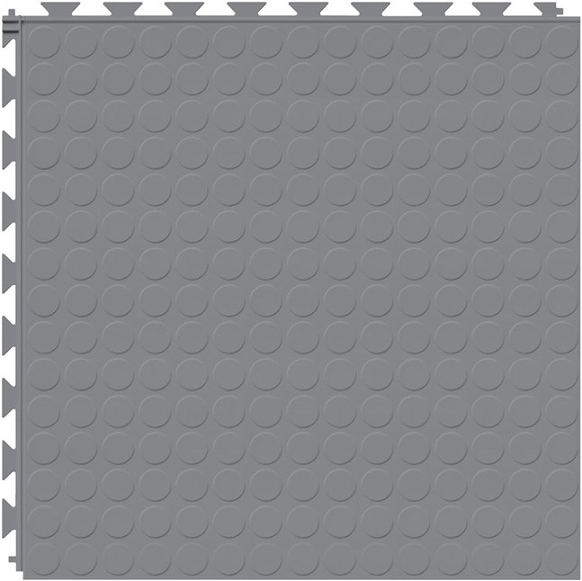 Tuff Seal Hidden Interlock Vinyl Floor Tile, Color: Light Gray, Pattern: Stud