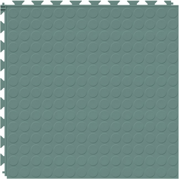 Tuff Seal Hidden Interlock Vinyl Floor Tile, Color: Meadow, Pattern: Stud