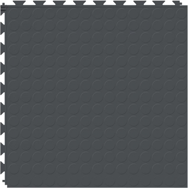 Tuff Seal Hidden Interlock Vinyl Floor Tile, Color: Slate, Pattern: Stud
