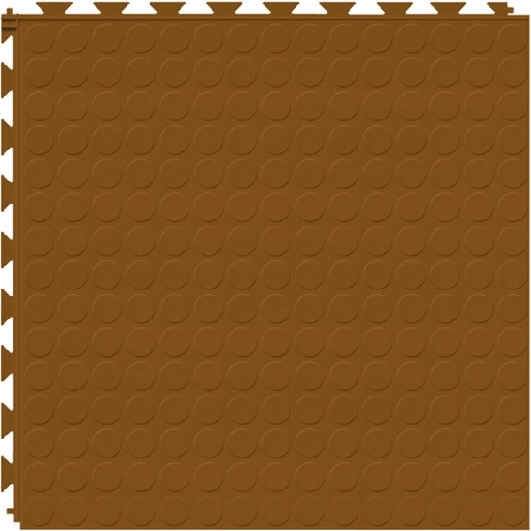 Tuff Seal Hidden Interlock Vinyl Floor Tile, Color: Terracotta, Pattern: Stud