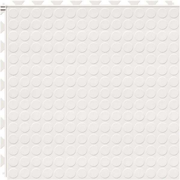 Tuff Seal Hidden Interlock Vinyl Floor Tile, Color: White, Pattern: Stud