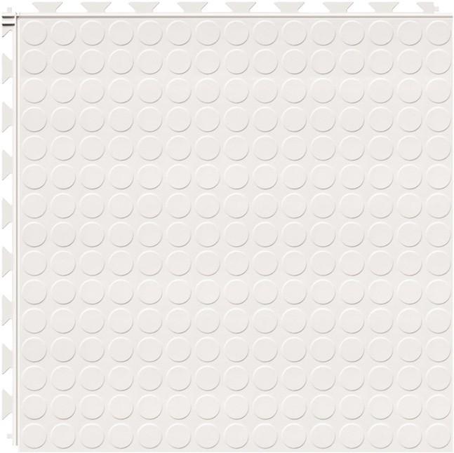 Tuff Seal Hidden Interlock Vinyl Floor Tile, Color: White, Pattern: Stud