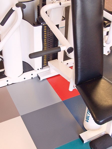 Tuff Seal Hidden Interlock Vinyl Floor Tile, Commercial gym flooring