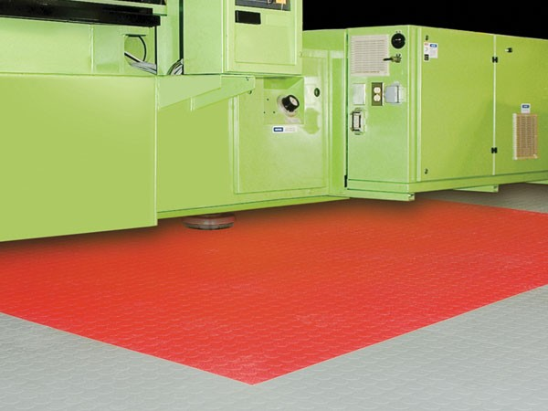 Tuff Seal Hidden Interlock Vinyl Floor Tile, Print facility floor