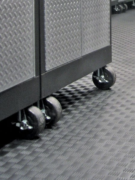 Tuff Seal Hidden Interlock Vinyl Floor Tile, Withstands rolling loads
