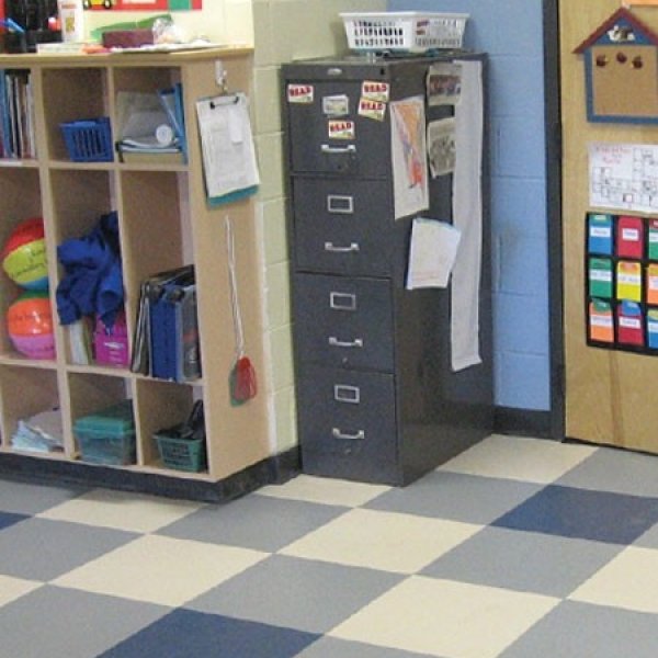 Tuff Seal Hidden Interlock Vinyl Floor Tile, Classroom flooring