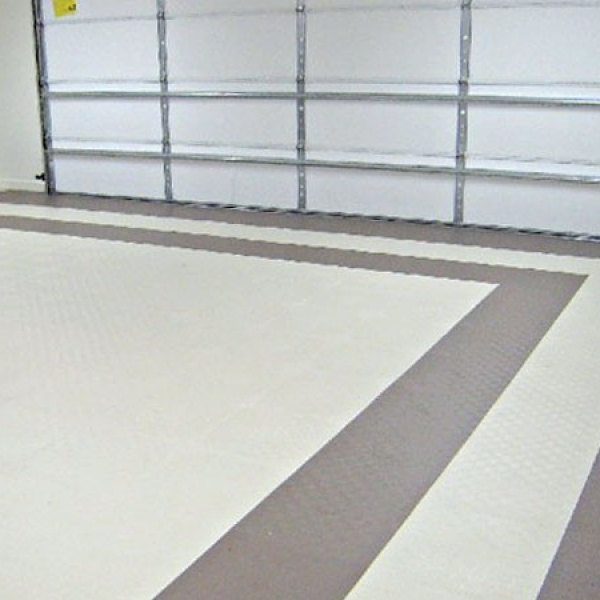 Tuff Seal Hidden Interlock Vinyl Floor Tile, Residential garage flooring
