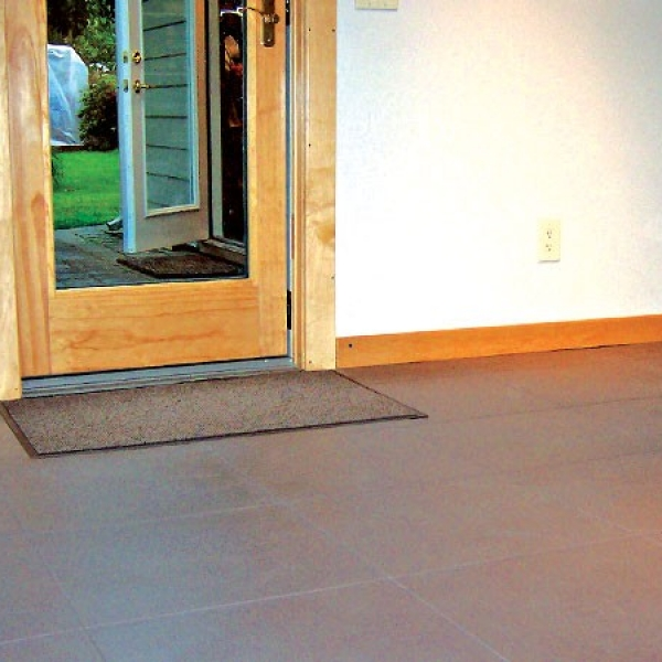 Tuff Seal Hidden Interlock Vinyl Floor Tile, Residential mud room flooring