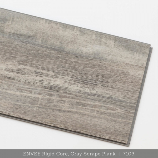 ENVEE Rigid Core, Gray Scrape Plank