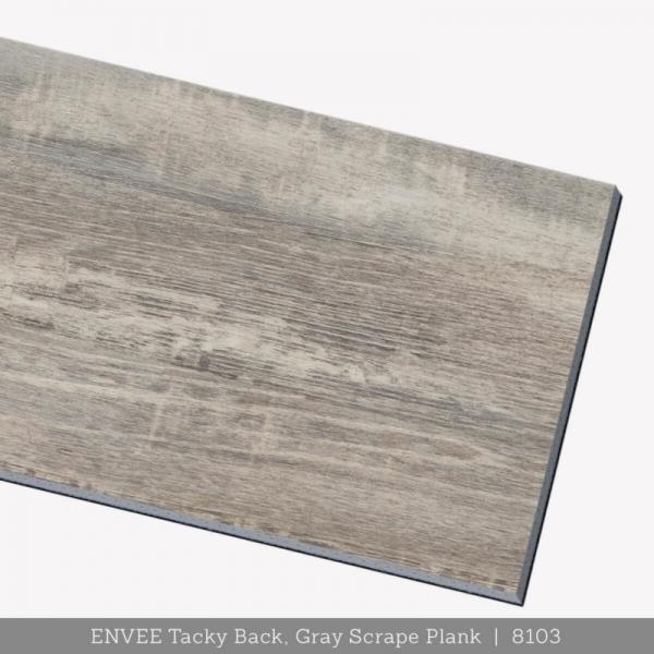 Envee Tacky Back, Gray Scrape Plank