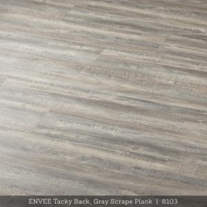 Envee Tacky Back, Gray Scrape Plank