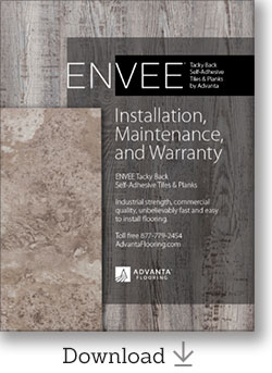 ENVEE Tacky Back Installation, Maintenance, and Warranty